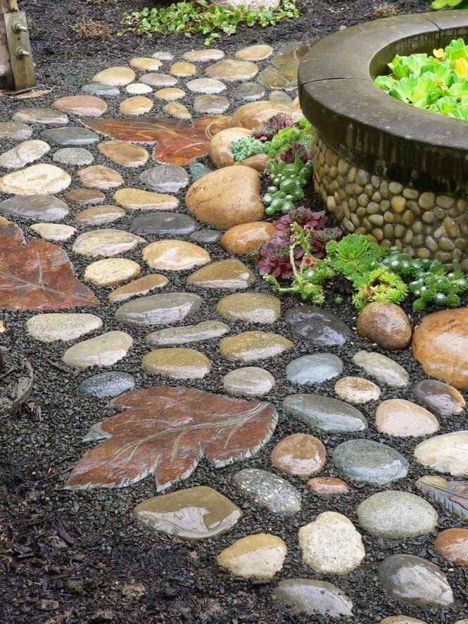Как сделать дорожку из природного камня своими руками